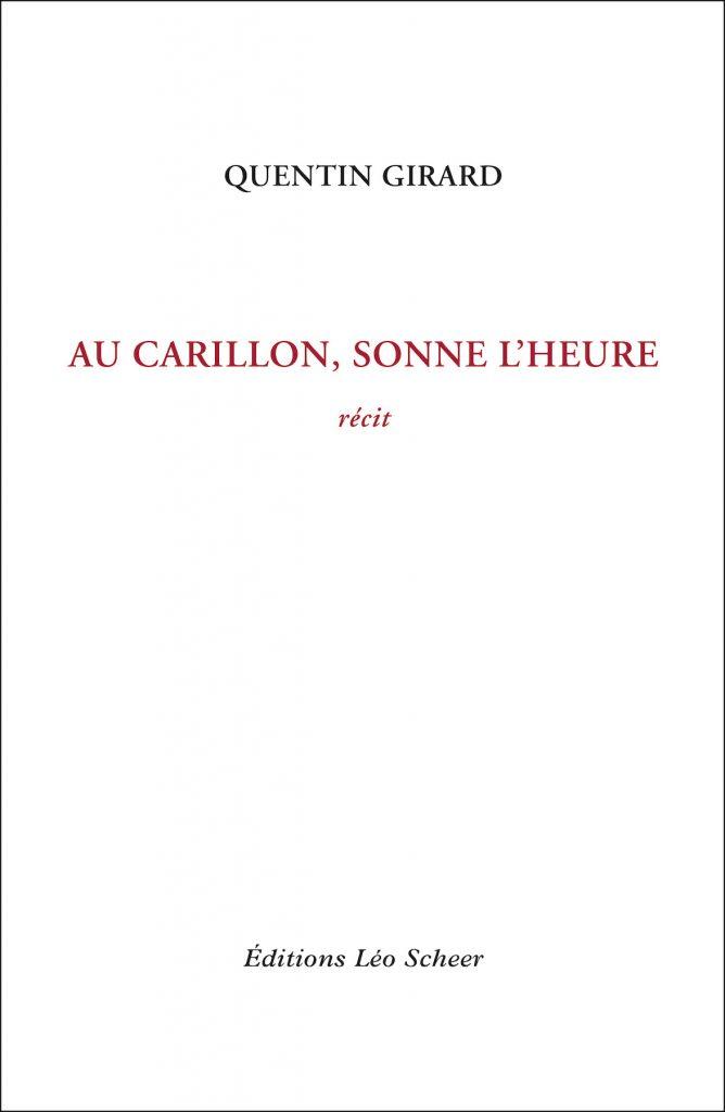 Couverture Au Carillon, sonne l'heure Quentin Girad